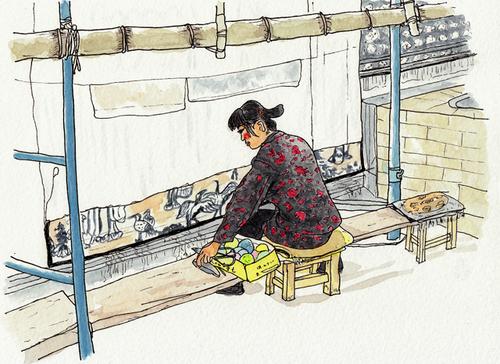 絨毯の編み子 2010年3月