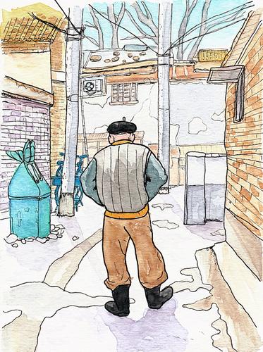 北京胡同(フートン)の老人 2007年12月