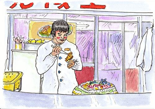 北京のケーキつくり職人 2007年12月
