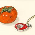 柿と歩数計 11月