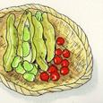 空豆とさくらんぼ (7月)