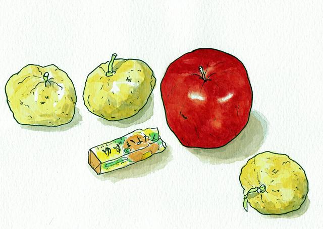 ユズとりんご 2009年12月