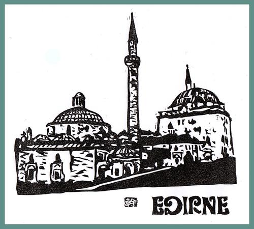 トルコの複合寺院 エディルネ (消しゴム)