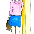 地下鉄駅の女