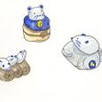 陶器のねずみ