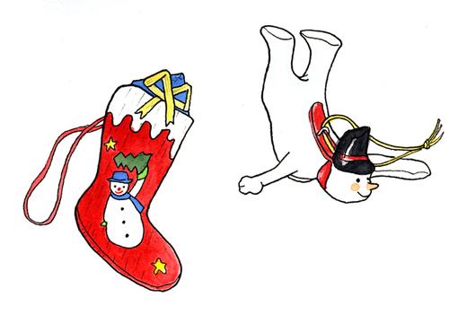 サンタの靴下 スノーマン