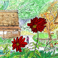 富山県菅沼の合掌集落 10月