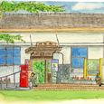 岐阜県明智町の駅舎   2006年7月
