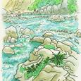 和知野川  池の島キャンプ場 8月